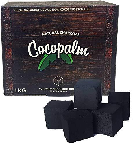 Oimex Cocopalm | 1-20 KG | Shisha Naturkohle aus 100% Kokosnuss - 180 Minuten Brenndauer | Starke Hitze | kein Eigengeschmack | BBQ & Grill-Kohle Holzkhole, Größe: 20kg
