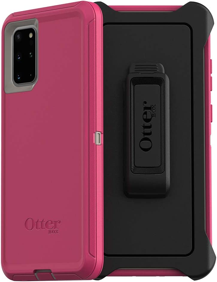 OtterBox DEFENDER SERIES SCREENLESS EDITION Case for Galaxy S20+/Galaxy S20+ 5G - LOVE BUG (Raspberry Pink) (DOVE/RASPBERRY)