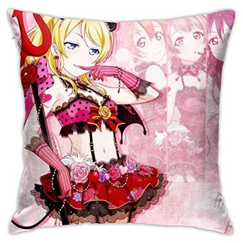 Kussenovertrek voor in huis, niet geschikt als kussensloop voor love ayase Eri, kussensloop, sofa, sofa, 45 x 45 cm, Anime