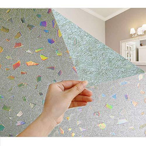 GodUp Fensterfolie Milchglasfolie Selbstklebend Sonnenschutzfolie Blickdicht Sichtschutzfolie Fenster Folie Anti-UV für Küche, Badezimmer und Büro (60 x 200 cm, Motif)