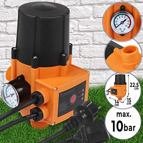 Preisvergleich Produktbild Pumpensteuerung mit oder ohne Kabel - mit Baranzeige,  max. 10 bar,  12V,  230V,  automatisches Ein- und Ausschalten,  Trockenlaufschutz,  Druckschalter,  Druckwächter für Hauswasserwerk
