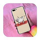 Linda Guinea Pig Yoga Funda para iPhone Oneplus 3 3T 5 5S 5T SE 6 6S 7 8 7T Plus X XS XR Max 11 12 Pro-10-para Oneplus 7 Pro