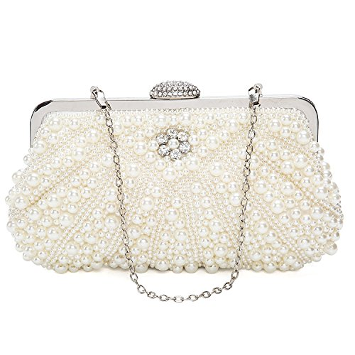 ORSERA Borsa donna Borsa clutch Cerimonia Perline Perle Donne Eleganti Pochette e clutch