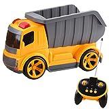 deAO funkgesteuerte Baustellenfahrzeug-Serie: 5 Kanäle, BAU- LKW , Fahrzeug mit Geräusch-und Lichteffekten, Anfänger Level - Kipper -