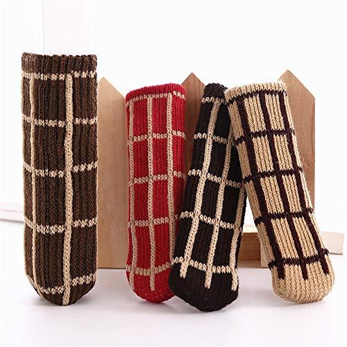 Stuhlbeinauflagen Bodenprotektoren 12 STÜCKE Stuhl Socken Design, zuverlässige Möbel & Bodenschutz Reduzieren Geräusch Phantasie Stuhlbein Socken Tischbein Socken Pads für Anti Scratch ( Farbe : Rot )
