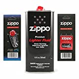Zippo (1) 12 OZ. Fuel (1) Flint and (1) Wick Set