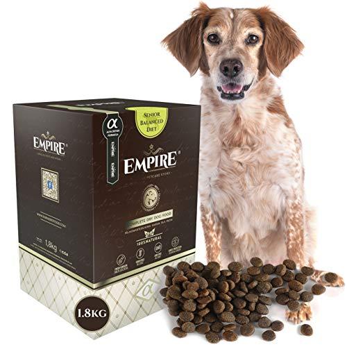 Empire   Getreidefreies Hundefutter Trocken Premium   1,8kg   Senior, Kastrierte und Fettleibige Hunde   77% Frisches Fleisch   Hypoallergen Ganzheitlich 100% Natürlich Glutenfrei Allergische Hunde