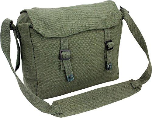 Pro Force Highlander Army Travel Shoulder Military Combat Day Bag Messenger Satchel Canvas Surplus Haversack Green