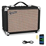 Donner 10W Guitar Amplifier, Electric Bass Amp and Acoustic Guitar Combo Practice Amp Protable M-10 , with APP Effector Input and Distortion Tone for Heavy Music Player
