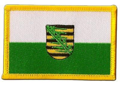 Aufnäher Patch Flagge Deutschland Sachsen - 8 x 6 cm