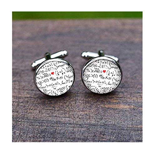 Leonid Meteor Shower Math Cufflinks, Mathematical Symbol Cuff Links for, Math Lovers,Glass Ornaments, Pure Handmade