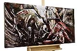 Kunstloft Extravagante Relieve de Pared de Metal Corrida de Toros' 120x60x7cm | Decoración XXL Escultura | Tauro Corrida de toros torero Animal | Cuadro Hecho a Mano Imagen Mural de Arte Moderno