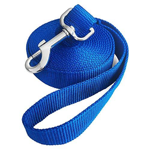Jackpet Hundeleine, stark, Verschiedene Größen, 1,8 m, 3 m, 9 m, Lange Leine, für mittelgroße Welpen, Outdoor-Trainingsleine, Schwarz, 10ft, blau