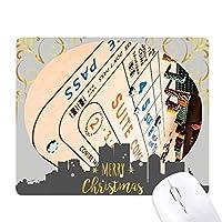 チップのギャンブルゲームの写真 クリスマスイブのゴムマウスパッド