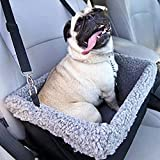 Devoted Doggy Metal Frame Construction Pet Booster Seat with Zipper Storage Pocket,...