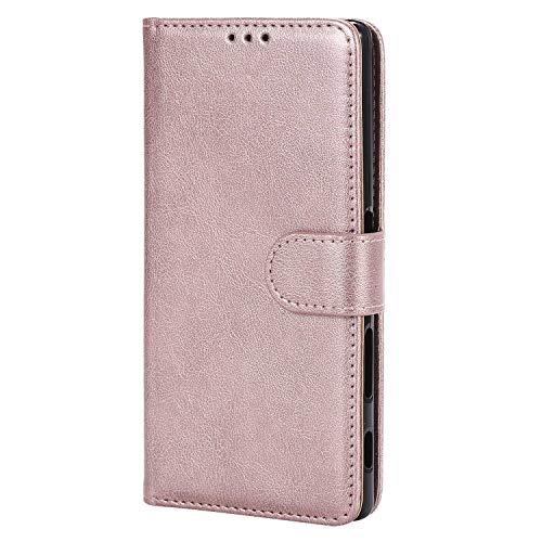 Bear Village® Hülle für Sony Xperia Z5, Flip Leder Handyhülle Tasche mit Kartensfach, TPU Innere Ledertasche, 360 Grad Voll Schutz, Rose Gold
