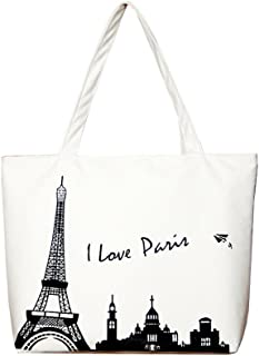 Women Canvas Handbag Tote (I Love Paris)