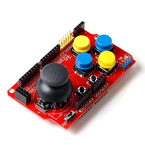 Joystick-Schild mit Wireless-Adapter (NRF24L01, Bluetooth) Nokia5110 LCD and I2C interfaces, für Arduino Uno, Mega. RBTMKR