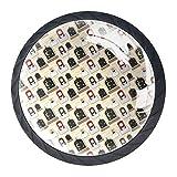 Botones redondos árabes de cristal con tornillos para muebles de gabinete de puerta, aparador de armario y cajones 4 piezas
