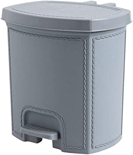 C-J-Xin Pedal-Type Trash Can, Easy to Clean Creative Plastic Garbage Can Factory Office Garbage Container Silent Open and ...