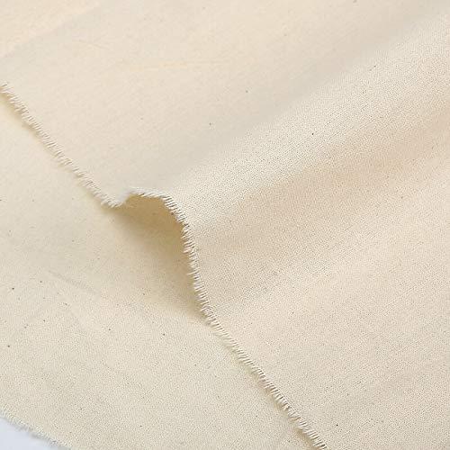 Calico-stof 100% natuurlijke onbehandelde middelzware stof van katoen voor handwerk, verf, interieurdecoratie, patchwork en kleding. 160cm Breed, 143gsm. Neotrims. 1 Meter