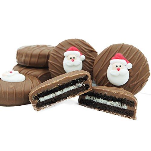 Philadelphia Candies Milk Chocolate Covered OREO Cookies, Christmas Santa Claus Gift 8 Ounce