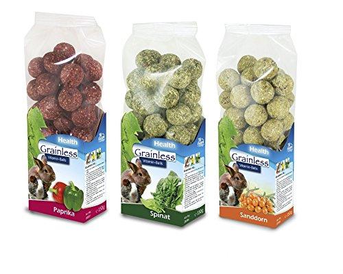 JR Farm Grainless Health Vitamin Balls Multipack, Probierpack für Nager