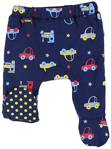 Piccalilly - Pantalon bébé avec pied voiture bleu EU 50/56 (0-3 mois)