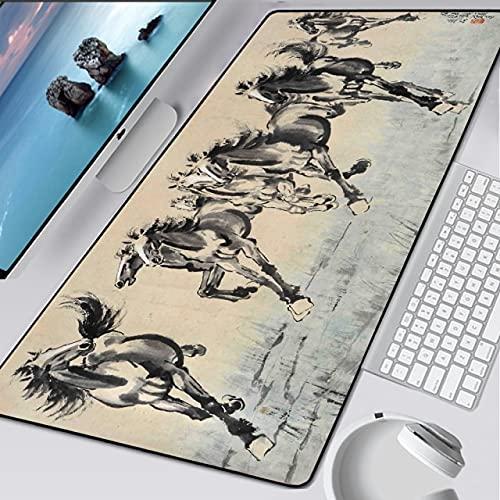 90x40/80x30cm Malerei Gaming Mauspad XXL Computer Mauspad XL Großer Gummi Schreibtisch Tastatur Mauspad Gamer für PC Zubehör - GH-014,700x300x2mm