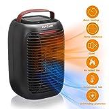 NASUM Radiateur Soufflant Électrique 950W avec 3 Modes Réglables, Mini Ventilateur de Vent...