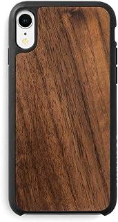 Recover Walnut Wood iPhone XR Case. Ultra Slim Protective Wooden Cover for iPhone XR (Walnut)