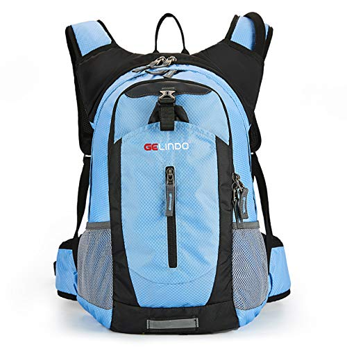 Gelindo Insulated Hydration Backpack Pack with 2.5L BPA Free Bladder - Keeps Liquid Cool Up to 4 Hours, Water Backpack for Hiking Camping Cycling Running, 18L