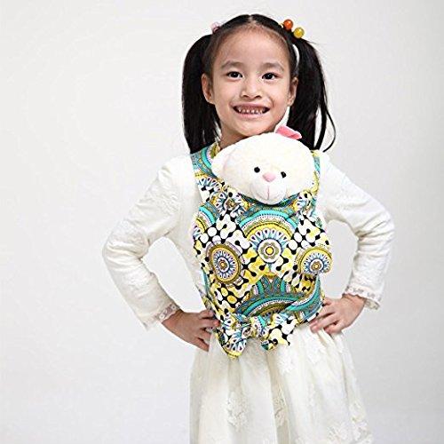 Baby Doll Carrier Mei Tai Sling Toy pour enfants Enfant enfant en bas d'enfant Dos, Mini-porteuse, Hibou, Dot, Fleur, Kaléidoscope (Kaleidoscope)