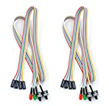 RION TECH 68cm ATX PC Desktop Case Power On Off Reset Switch Cable with 2 x LED...