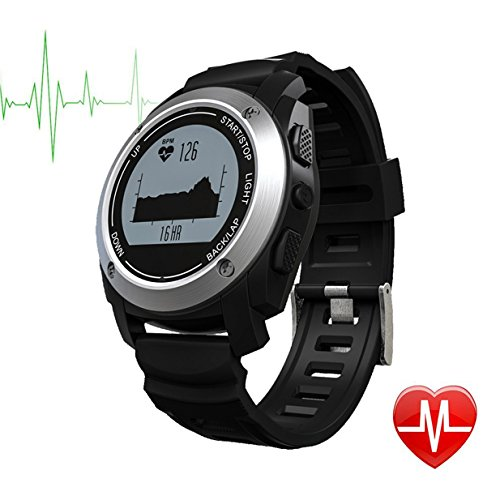 DongAshley GPS Smart Watch Bluetooth Monitoraggio del Sonno GPS Orologio Intelligente Registrare I Dati in Esecuzione & Rispondi al Telefono & Bluetooth Push Nero