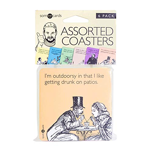 Someecards Censored Assorted Funny Happy Hour Gag Novelty Coasters Party Set of 6