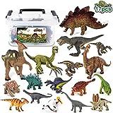 Tagitary 恐竜フィギュア 知育おもちゃ 17点セット クリスマス プレゼント 収納ボック……