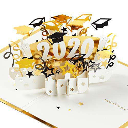 Hallmark Signature Paper Wonder Class of 2020 Pop Up Graduation Card (Hats Off)