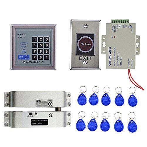 Baoblaze 1x Timbre de puerta con 10 Teclas RFID 500 Usuarios huella...