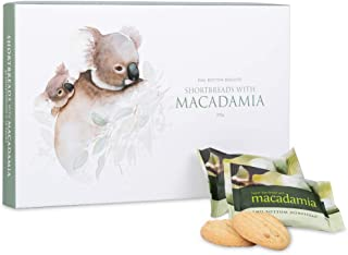 Shortbread Butter Cookies with Macadamia Individually Wrapped Gourmet Snacks 20 Count