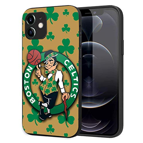 Phone Case for iPhone 12 iPhone 12 Pro, Ultra-Thin Printed Acrylic Rear Panel Shockproof, with Soft TPU Bumper Military Cover for iPhone 12/12 Pro Only 6.1 inches (Celtics-Shamrock)