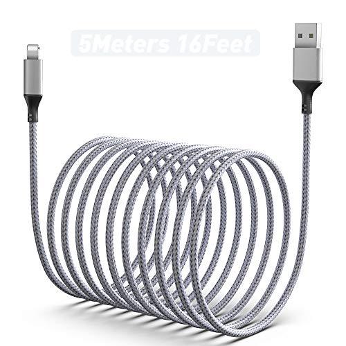 5M / 16FT Handy Ladekabel, Synchroni Sations Kabel Und Ultralanges Geflochtenes USB Kabel Aus Nylon, Kompatibel Mit Telefon Xs Max /XR/XS/X/8/7/6s/6
