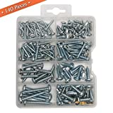 Qualihome Pan head Phillips Drive Sheet Metal Screws Assortment Kit, 140 Pieces...