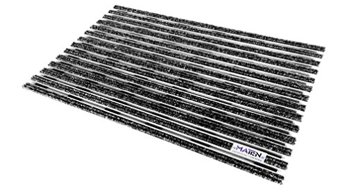 Mat.en Felpudo técnico Plate 17 de aluminio, antracita para entradas y exteriores, 60 x 40 cm