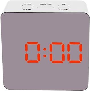 xdrfxrghjku Espejo Electrónico De Alta Definición Despertador Reloj Multifuncional Espejo Reloj Despertador Digital con Te...