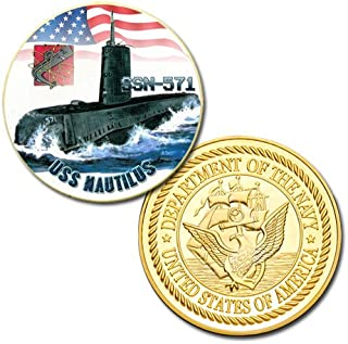 U.S Navy USS Nautilus (SSN-571) printed Challenge coin
