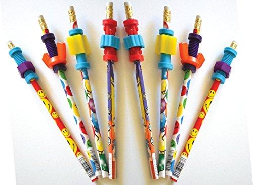 Finger Fidget Pencils with Fidget Toppers -Set of 8 Pencils with Fidgets - Pencil Fidgets from Express Pencils