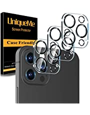 [3 Pack] UnqiueMe Compatibel met iPhone 12 Pro Max (6,7 inch) Camera Lens Protector, Ultra Clear Dunne [Bubble Free] Gehard Glas Screen Compatibel met iPhone 12 Pro Max