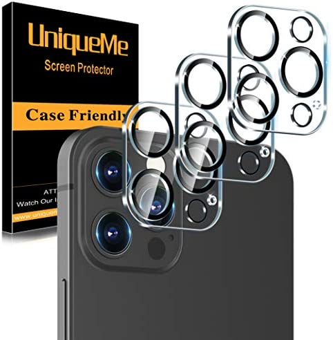 3 Pack UniqueMe Camera Lens Protector Compatible with iPhone 12 Pro Max 6 7 Tempered Glass Case product image