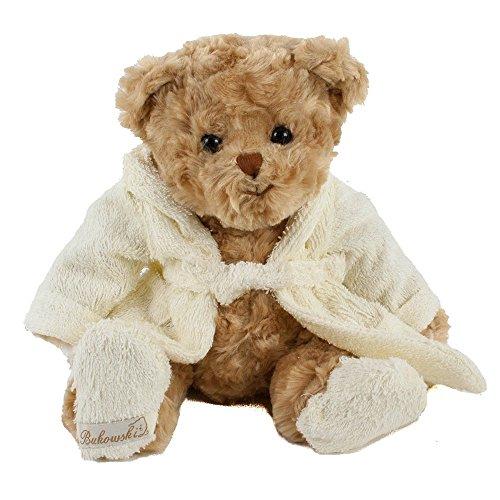 Bukowski, Tedddybär, Mr. Bukowski, 30 cm, braun/creme, mit Bademantel, Plüschteddybär